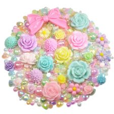 'PRETTY PASTELS' Theme Rhinestone and Cabochon Mix